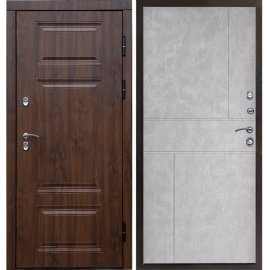 Дверь входная с противоударным зеркалом цвет Белый ясень - Премиум-1R
