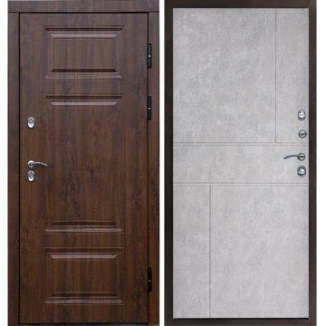 Входная металлическая дверь Сенатор Премиум-1R с зеркалом цвет панели Белый ясень
