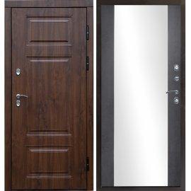 Дверь входная с противоударным зеркалом цвет Эко-дуб - Премиум-1R