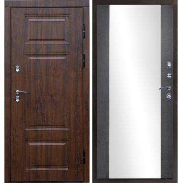 Входная металлическая дверь Сенатор Премиум-1R с зеркалом цвет панели Эко-дуб