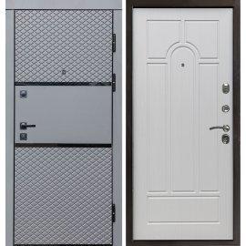 Входная металлическая дверь Сенатор Премиум-6R цвет панели Белый Ясень