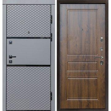 Входная металлическая дверь Сенатор Премиум-3R цвет панели Орех бренди