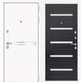 Входная металлическая дверь Сенатор Самальта ФЛ-1 Венге. белое стекло