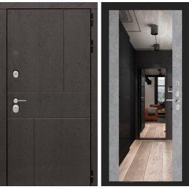 Входная металлическая дверь Сенатор Ультиматум ФЛ-16 с зеркалом Бетон светлый