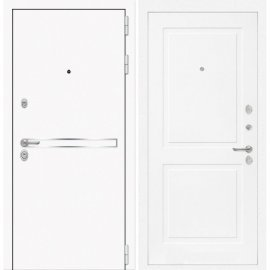 Входная металлическая дверь Сенатор Самальта ФЛ-11 Белый софт