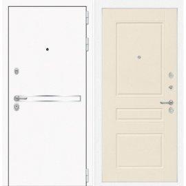 Входная металлическая дверь Сенатор Самальта ФЛ-3 Крем софт