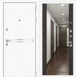 Входная металлическая дверь Сенатор Самальта Венге с ударопрочным зеркалом