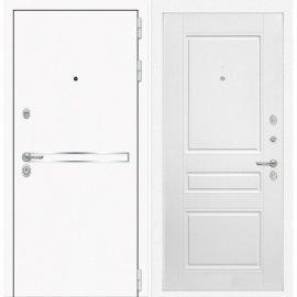 Входная металлическая дверь Сенатор Самальта ФЛ-3 Белый софт