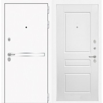 Входная дверь Самальта ФЛ-3 Белый софт