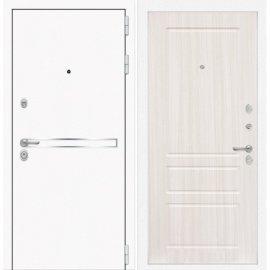 Входная металлическая дверь Сенатор Самальта ФЛ-3 Сандал белый