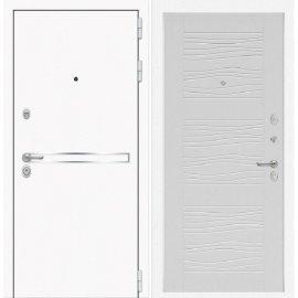 Входная металлическая дверь Сенатор Самальта ФЛ-6 Белое дерево