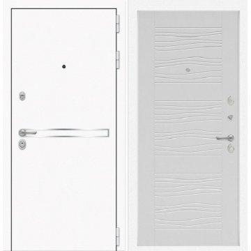 Входная дверь Самальта ФЛ-6 Белое дерево