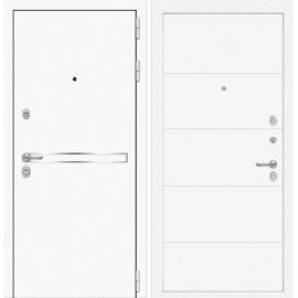 Входная металлическая дверь Сенатор Самальта ФЛ-13 Белый софт