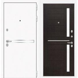 Входная металлическая дверь Сенатор Самальта ФЛ-2 Венге. белое стекло