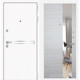 Входная металлическая дверь Сенатор Самальта Акация светлая с зеркалом