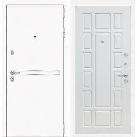 Входная металлическая дверь Сенатор Самальта ФЛ-12 Белое дерево