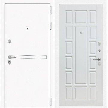 Входная дверь Самальта ФЛ-12 Белое дерево
