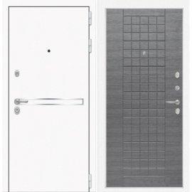 Входная металлическая дверь Сенатор Самальта ФЛ-9 Лен сильвер