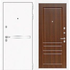Входная металлическая дверь Сенатор Самальта ФЛ-3 Орех бренди