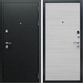Входная металлическая дверь Сенатор Престиж 3к Антик Серебро | Акация светлая