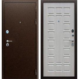 Входная металлическая дверь Сенатор Престиж ФЛ 183 Антик медь | Дуб беленый