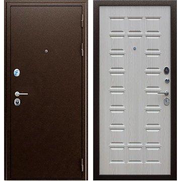 Входная дверь Престиж ФЛ 183 Антик медь | Дуб беленый