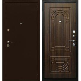 Входная металлическая дверь Сенатор Престиж Оптима 3К Антик медь | Орех бренди