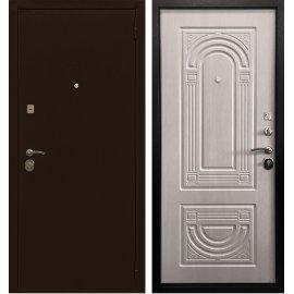 Входная металлическая дверь Сенатор Престиж Оптима 3К Антик медь | Эко дуб