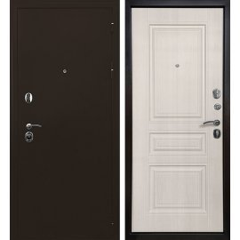 Входная металлическая дверь Сенатор Престиж 6R Антик медь | Лиственница беж