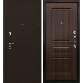Входная металлическая дверь Сенатор Престиж 6R Антик медь | Орех бренди