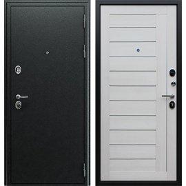 Входная металлическая дверь Сенатор Престиж Антик Серебро | Лиственница белая