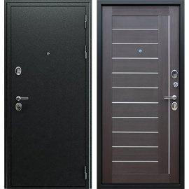 Входная металлическая дверь Сенатор Престиж Антик Серебро | Рифленый Орех