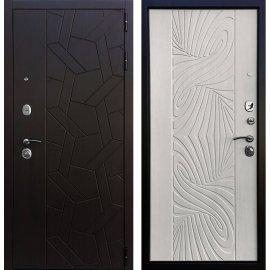 Входная металлическая дверь Сенатор Престиж ФЛ 202 Лиственница беж