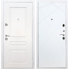 Входная металлическая дверь Сенатор Император 3к ФЛ-291 Белый силк сноу