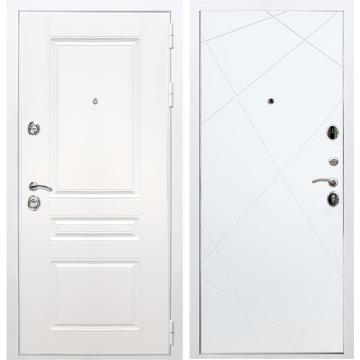 Входная белая дверь Император 3к ФЛ-291 Белый силк сноу