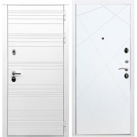 Входная металлическая дверь Сенатор Классика ФЛ-291 Белый силк сноу