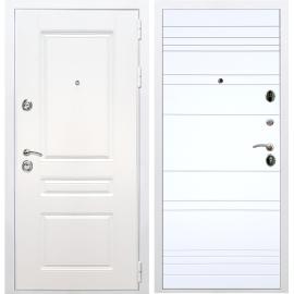 Входная металлическая дверь Сенатор Император 3к ФЛ-316 Белый силк сноу
