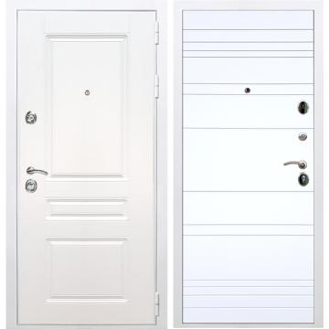 Входная белая дверь Император 3к ФЛ-316 Белый силк сноу