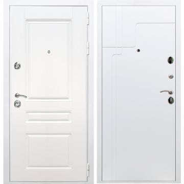 Входная белая дверь Император 3к ФЛ-246 Белый силк сноу