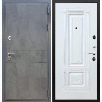 Входная дверь Сенатор Ультиматум ФЛ-2 Белый силк сноу