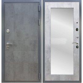 Входная металлическая дверь Сенатор Ультиматум Пастораль Бетон светлый с зеркалом