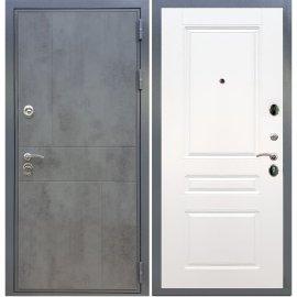 Входная металлическая дверь Сенатор Ультиматум ФЛ-243 Белый силк сноу