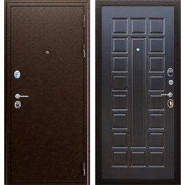 Входная металлическая дверь Сенатор Престиж ФЛ-183 Антик медь | Венге