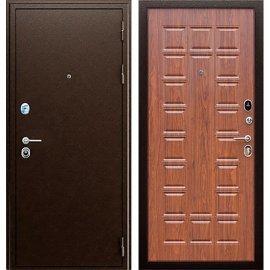 Входная металлическая дверь Сенатор Престиж ФЛ 183 Антик медь | Орех
