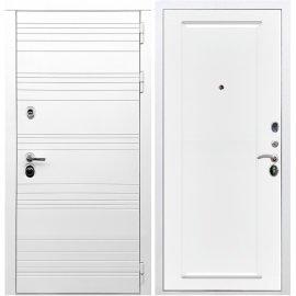 Входная металлическая дверь Сенатор Классика ФЛ-119 Белый силк сноу