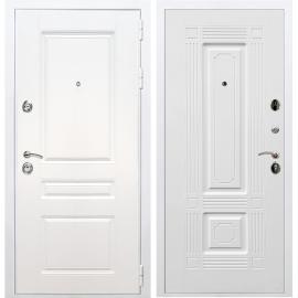 Входная металлическая дверь Сенатор Император 3к ФЛ-2 Белый силк сноу