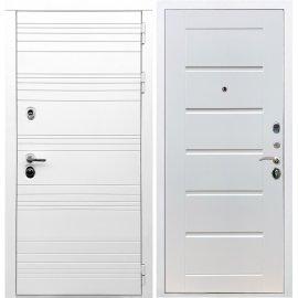 Входная металлическая дверь Сенатор Классика Сити Белый ясень