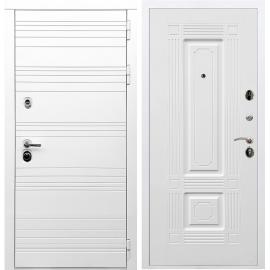 Входная металлическая дверь Сенатор Классика ФЛ-2 Белый силк сноу
