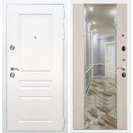 Входная металлическая дверь Сенатор Император 3к СБ-16 Лиственница беж с Зеркалом