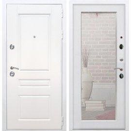 Входная металлическая дверь Сенатор Император 3к Пастораль Белый Ясень с Зеркалом